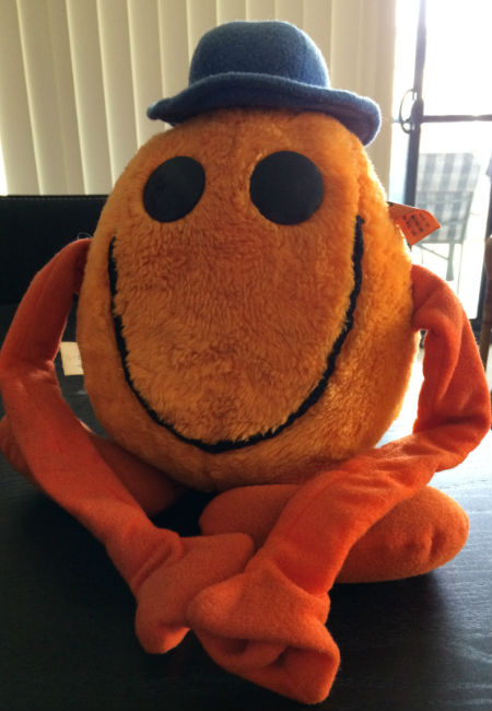 In recognition of my bubbly, extrovert personality, I was given this Mr Tickle plush back for my 18th birthday, cementing a love of the Mr Men and Little Miss books that continues to this day