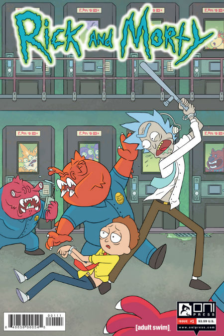 The cover of the first ever issue of Rick and Morty due out 1 April (image via EW (c) Oni Press)