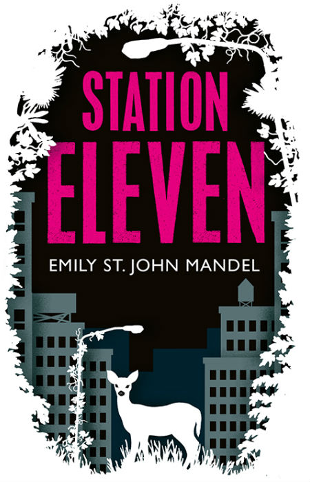 The exquisitely evocative cover for Station Eleven, designed by Nathan Burton (image via and (c) Nathan Burton Design / Picador)