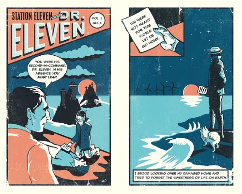 Nathan Burton's arresting depiction of the comic book strip that gives the book its name (image via and (c) Nathan Burton Design / Picador)