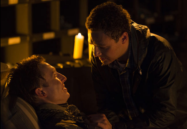 New characters, and sweetly-dedicated life partners Aaron and Eric are reunited after Rick's group, or more particularly Rick, makes things as difficult as possible for them (Photo by Gene Page/AMC)