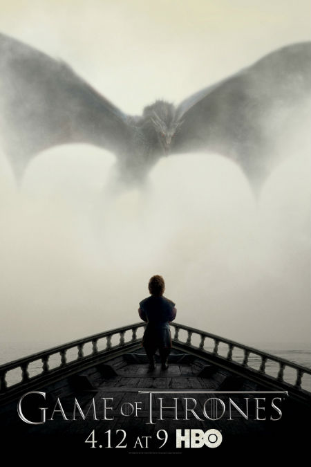Things look decidedly dark and ominous in the season 5 poster featuring  Tyrion Lannister played by Peter Dinklage (image via TV.com (c) HBO)