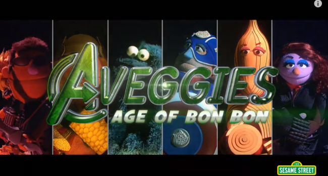 The Aveggies are all that stands between the vegetable-loving citizens of Earth and a dessert-led creaming courtesy of nefarious alien sweet-heart Bon Bon (image via YouTube (c) Childrens' Television Workshop)