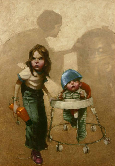 Who didn't turn a boring afternoon babysitting a little brother or sister into an intergalactic adventure in which the universe, and not a plate of half-chewed food, hung in the balance? (image via Nerdist (c) Craig Davison)