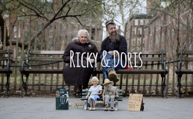Ricky and Doris documents the friendship between two quite unlikely people who find in each other an unassuming sense of belonging and purpose (image via YouTube (c) David Friedman)
