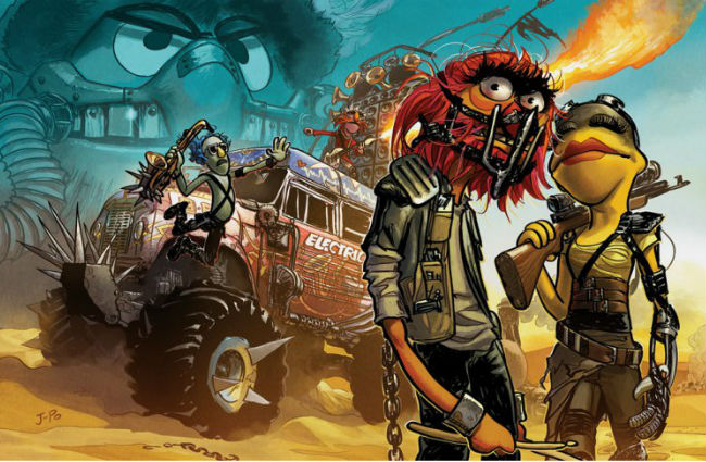 The Muppets get their Mad Max Fury Road look on (image via JoopaDoops Deviant Art (c) Justin Ponsor)