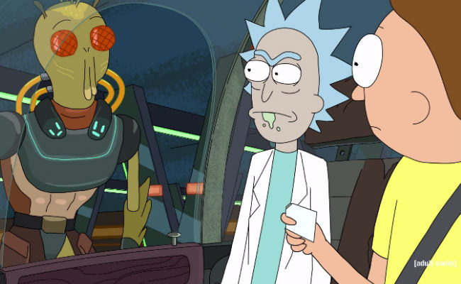 Rick is every as shady as you think ... and all the funnier for it. Morty may, however, disagree with this (image via YouTube (c) Adult Swim)