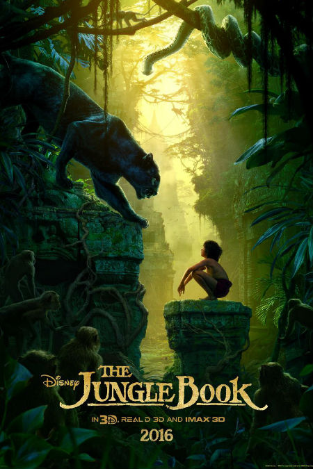 The Jungle Book poster given to attendees at this year's D23 Expo (image via Screen Relish (c) Disney)