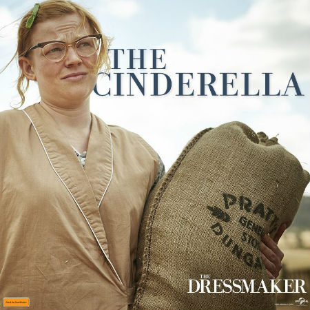 Meet Gertrude Pratt, Tilly's first candidate for transformation. But as plain old 'Gert' becomes glamorous 'Trudy', her true nature is revealed ... and it's not pretty! (Text and photo (c) Universal via official The Dressmaker Facebook page)