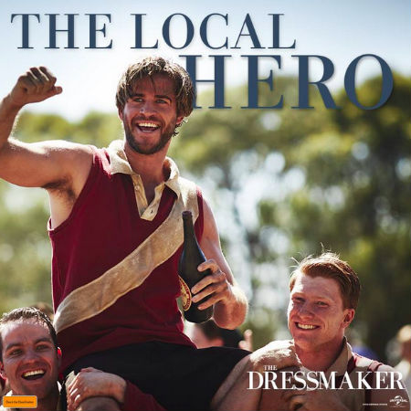 Meet Teddy McSwiney, the hero of Dungatar. Kind and generous, he instantly falls in love with Tilly when she returns. (Text and photo (c) Universal via official The Dressmaker Facebook page)