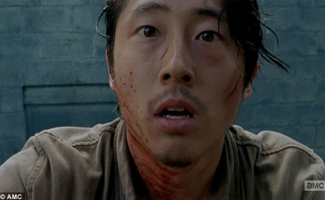 "Glenn is the central figure in ""Thank You"" as life and death both vie to claim him as their own (image courtesy AMC)"