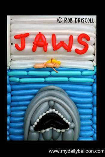Jaws (image via Laughing Squid (c) Rob Driscoll/My Daily Balloon)