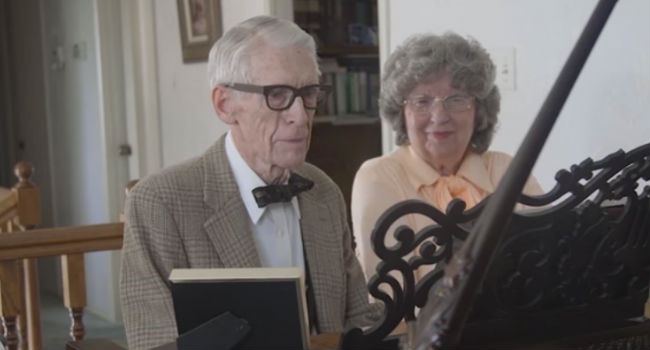 Life imitating art in the most touching way possible: Jason Lyle Black's grandparents give life to Carl and Ellie from UP (image (c) Jason Lyle Black via YouTube)