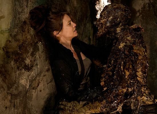 Following the possible loss of Glenn, Maggie toys with dating again but finds the field of candidates a little too pushy and considerably undead (image courtesy AMC)