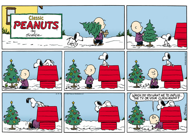 Admittedly not one of the comic strips that appears in the book but sweetly amusing anyway (comic strip via Pinterest (c) Peanuts)