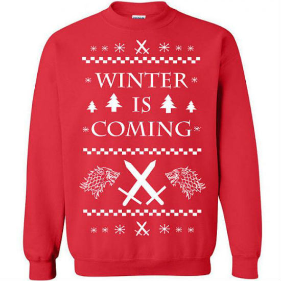 It's coming and so you'll need this sweater and Tyrion Lannister (image via Den of Geek - available from Etsy)