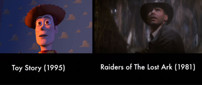A little Raiders of the Lost Ark with your Toy Story? Yes, please and thank you (image via Vimeo)