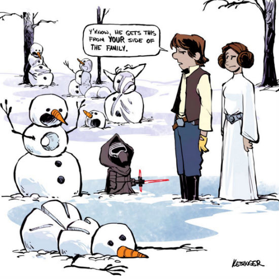 #finn and Poe's escape from the star destroyer did not go as smoothly as planned. #calvinandhobbes #starwars #mashup (copy and text (c) Brian Kessinger)