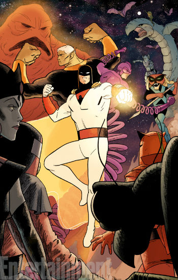 The all-new Johnny Quest/Space Ghost (image via EW (c) DC Comics)