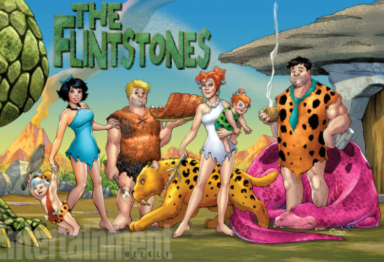 The all-new Flintstones (image via EW (c) DC Comics)