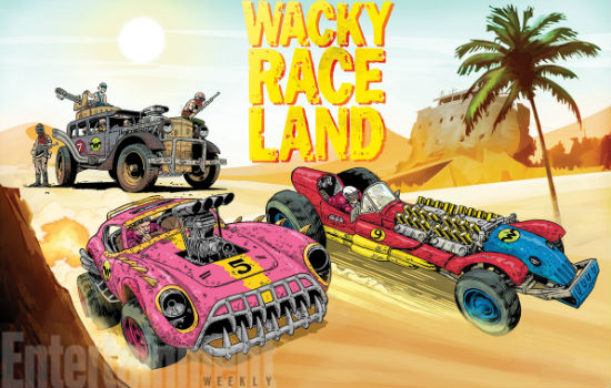 the all-new Wacky Races (image via EW (c) DC Comics)