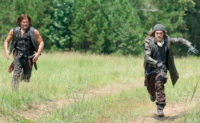 Daryl and Jesus decide to get some cardio time in right in the middle of trying to survive the zombie apocalypse (image courtesy AMC)