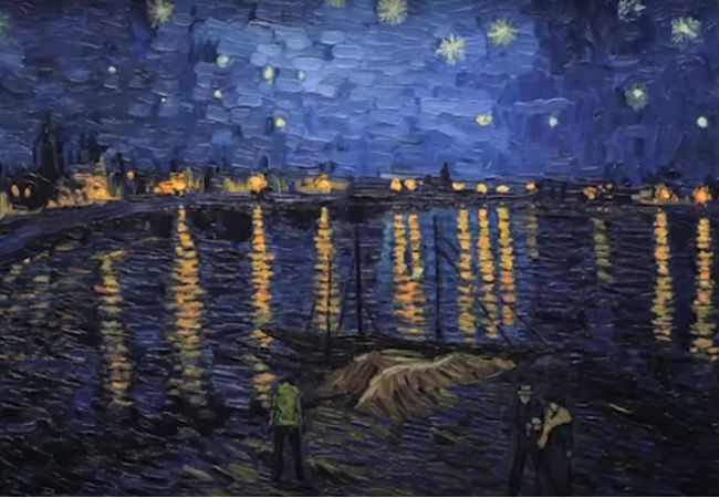 One of the divinely-beautiful stills from the immersively-lovely trailer for Loving Vincent (image via YouTube (c) Breakthru Films)