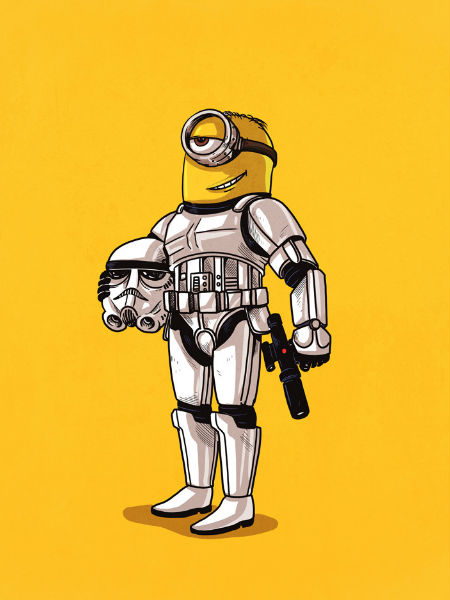 Minion ... or stormtrooper? (image via Geek and Sundry (c) Alex Solis)
