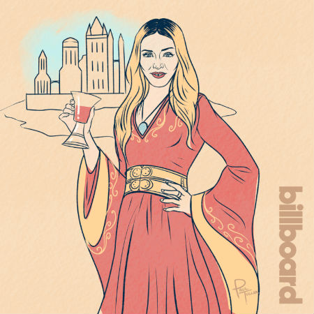 Madonna as Cersei Lannister (artwork (c) Paul Tuller (c) Billboard)