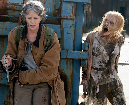 Carol's recently-renewed faith was a wonderful thing although she kept forgetting, and often to her cost, that walkers couldn't hear her confession (image courtesy AMC)