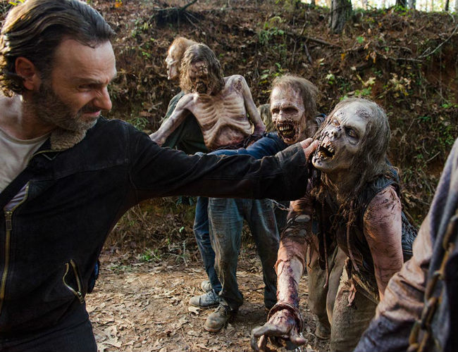 It was possible that Rick, having not been out in the midst of the brutality of the apocalypse as much as he once was, might have forgotten that you should never pet the walkers (image courtesy AMC)