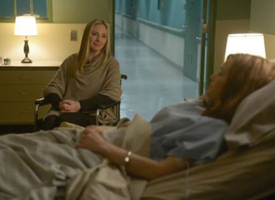 There is nothing lovelier when you're ailing in hospital than a visit ... from someone who is TRYING TO KILL YOU (image courtesy FOX)