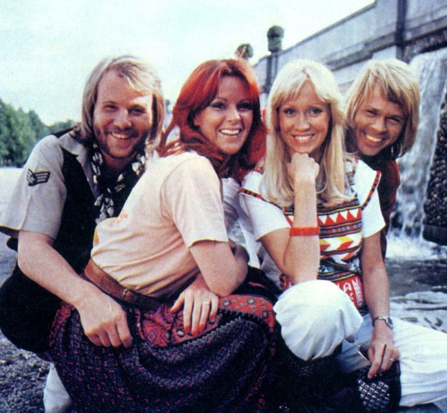 ABBA in their The Name of the Game single attire (image (c) Universal)