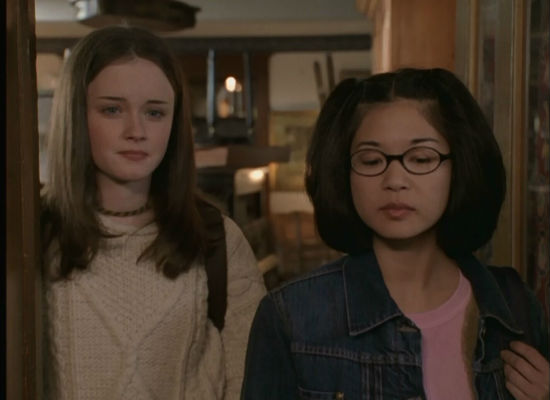 The rhythm of pretty much every relationship is in place and humming along delightfully such as that of Rory and best friend Lane (image (c) Gilmore Girls)