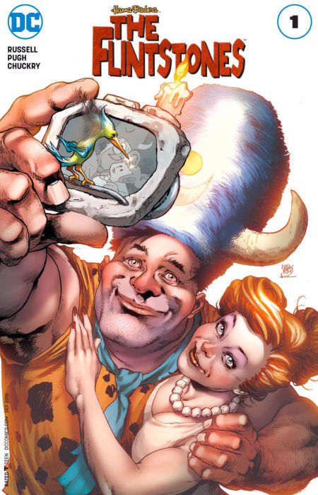 It's Fred and Wilma ... though not exactly as you know them (cover artwork courtesy DC Comics)