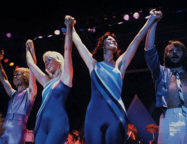 ABBA in concert 1979 on their final major tour (Image via Get ABBA (c) Universal Music)