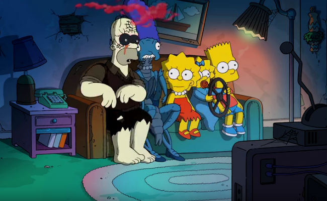 The Simpsons at their ghoulish best ... worst? (image via YouTube (c) FOX)