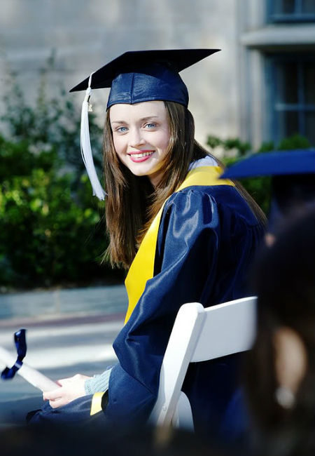 She's done it! Rory has graduated Chilton and she and Lorelai are free of their Friday night dinner debt to Emily and Richard ... or are they? (image (c) Warner Bros)