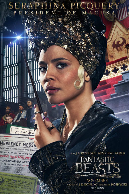Carmen Ejogo as President Seraphina Picquery, the President of MACUSA (image via Hypable)