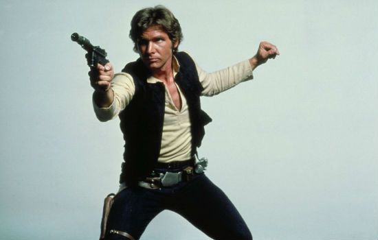 Harrison Ford as Han Solo in the first Star Wars. © Lucasfilm Ltd