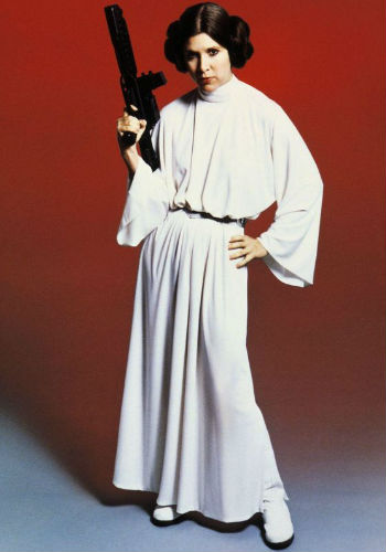 Carrie Fisher as Princess Leia in Star Wars: Episode IV - A New Hope (1977). © LucasFilm Ltd