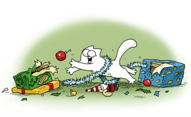 Oh what fun it is to rip presents all to shreds (image (c) Simon Tofield)