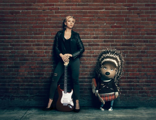 Scarlett Johansson as Ash, a crested porcupine punk rocker (image via Hey U Guys (c) Illumination Entertainment)