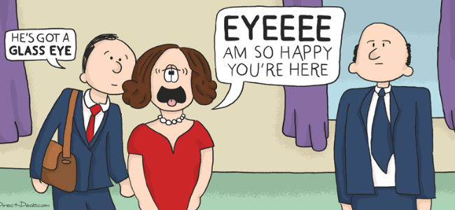 VEEP meets Cathy (image via Laughing Squid (c) DirecTV)