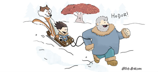 Game of Thrones meets Calvin and Hobbes (image via Laughing Squid (c) DirecTV)