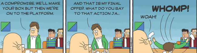 Silicon Valley meets Dilbert (image via Laughing Squid (c) DirecTV)