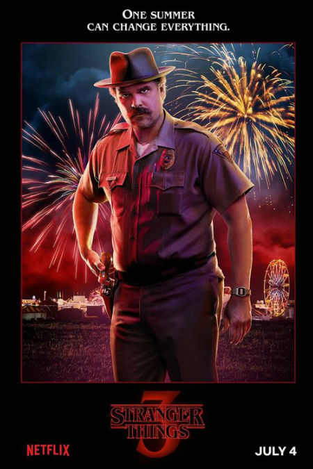 Stranger Things' Hopper as Magnum P I ? Yes, please and thank you